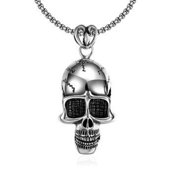 Vintage Adorn Alloy Devil Skull Necklace