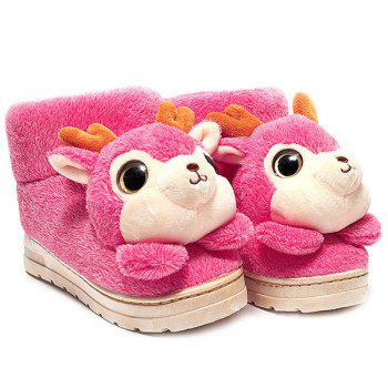 Cartoon Deer High Top House Novelty Slippers