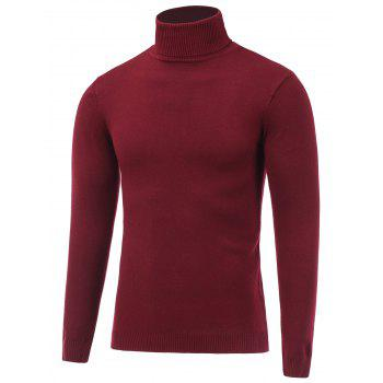 Stretchy Pullover Turtle Neck Knitwear