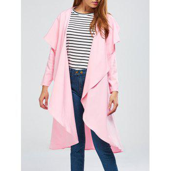 Long Asymmetric Drape Duster Coat