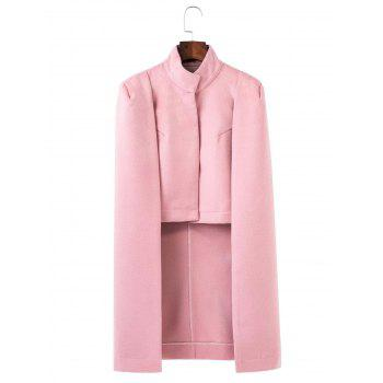 High Low Long Wool Cape Coat