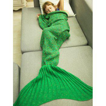 Soft Knitting Sleeping Bag Sofa Wrap Mermaid Tail Blanket