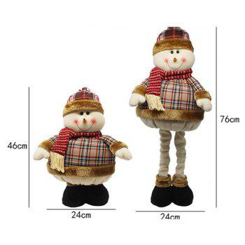 Novelty Kids Gift Christmas Snowman Puppet Toy - COLORMIX