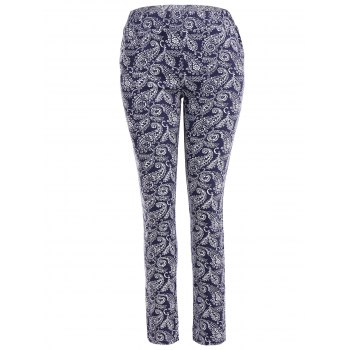 Skinny Flower Print Leggings