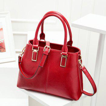 Faux Leather Metal Embellished Tote