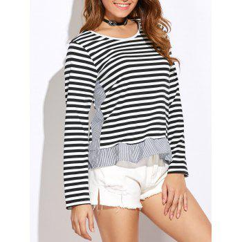 Slim Fit Stripe Peplum Tee