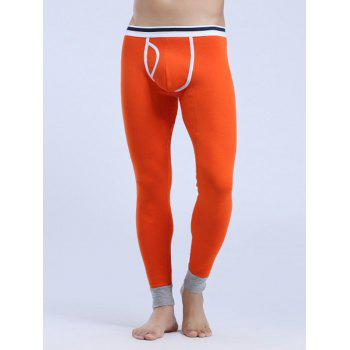 Edging Design Breathable U Convex Pouch Warmth Long Pants