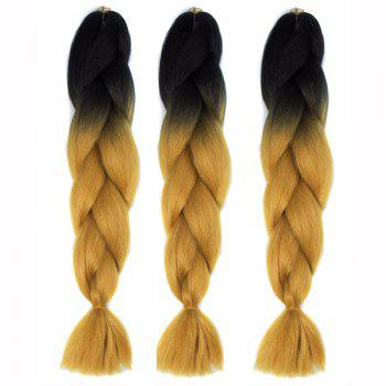 Multicolor 1 PcsBraided High Temperature Fiber Hair Extensions
