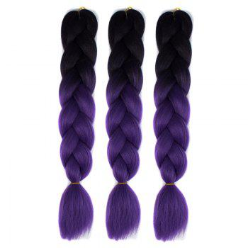 High Temperature Fiber 1 Pcs Braided Multicolor Hair Extensions