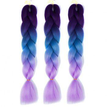 1 Pcs Multicolor Heat Resistant Fiber Long Braided Hair Extensions