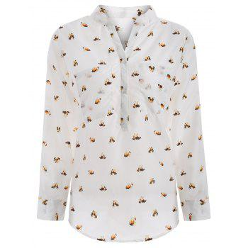Puppy Printed Chiffon Blouse