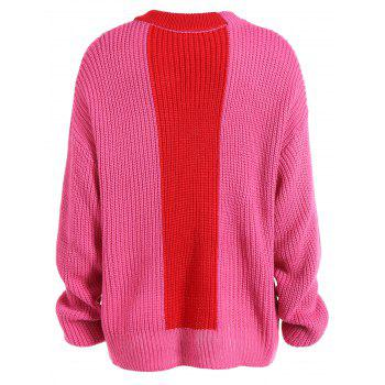 Chute lâche épaule Pull - Rose rouge ONE SIZE