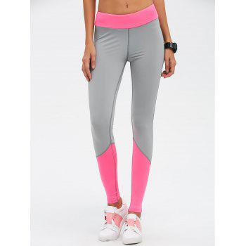 High Waist Color Block Skinny Sports Leggings