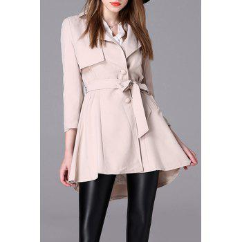 A Line Trench Coat With Belt