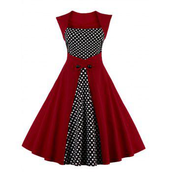 Polka Dot Semi Formal Midi Skater Dress