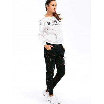 Graphic Sweatshirt with Jogger Pants - XL XL