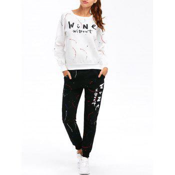 Graphic Sweatshirt with Jogger Pants