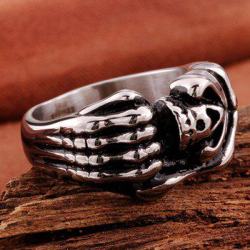 Vintage Adorn Devil Claws Skull Ring - SILVER 9