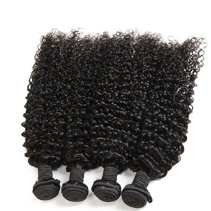 Kinky Curly 1 Pcs 6A Virgin Brazilian Hair Weave - Noir 12INCH