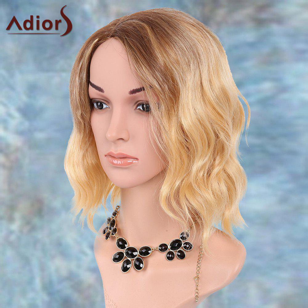 Adiors Side Parting Medium Wavy Ombre Synthetic Wig adiors medium ombre side parting wavy shaggy synthetic wig