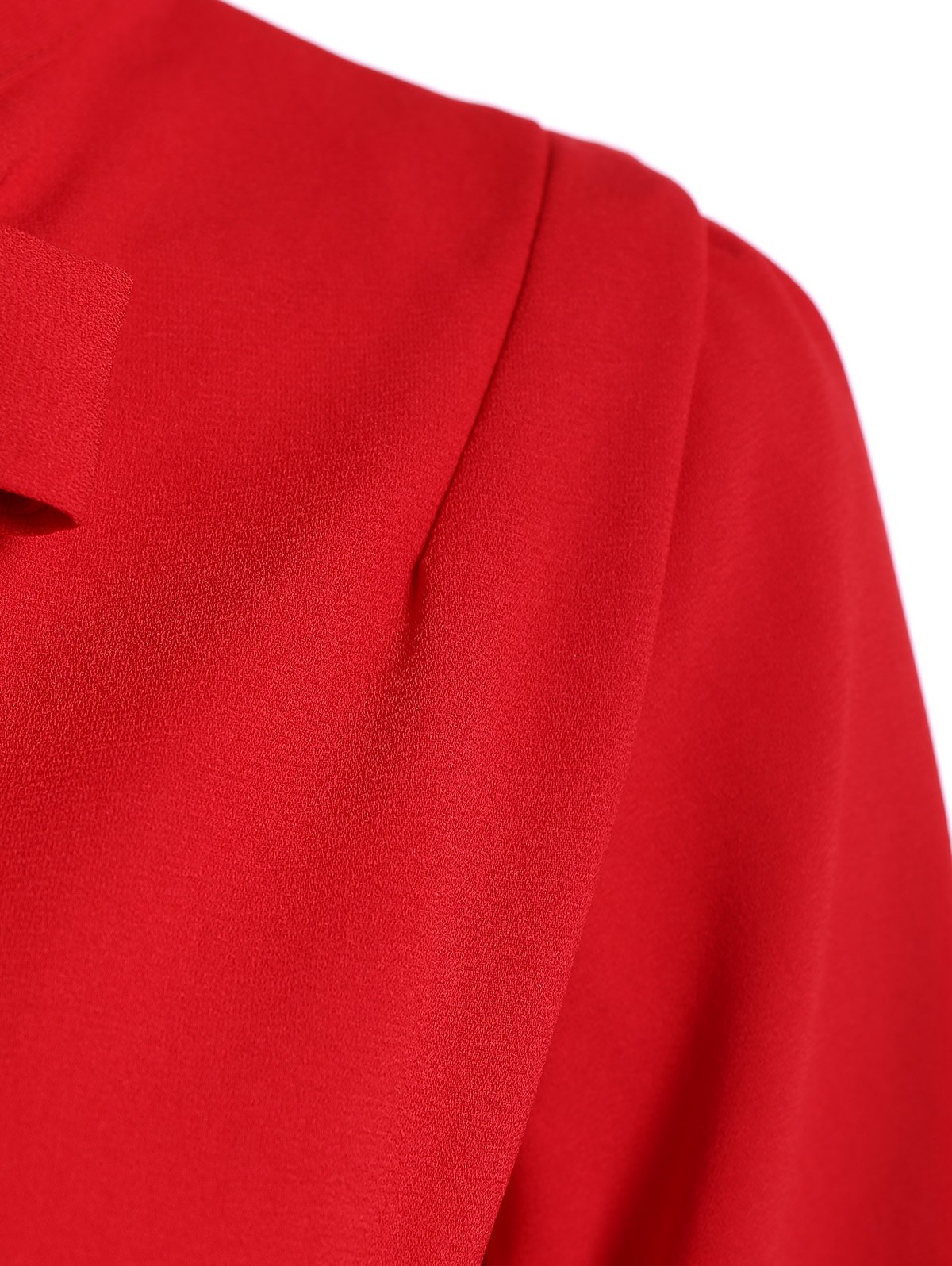 Pussy Bow Robe droite - Rouge S