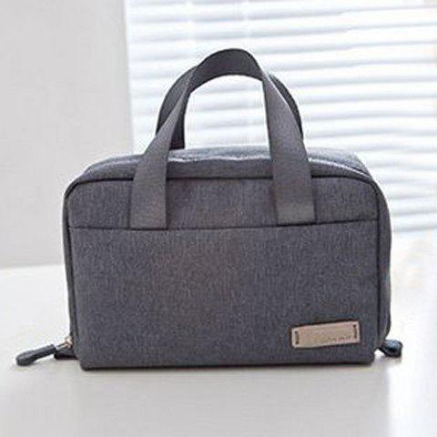 Shape Zipper Place Cosmetic Bag - Gris