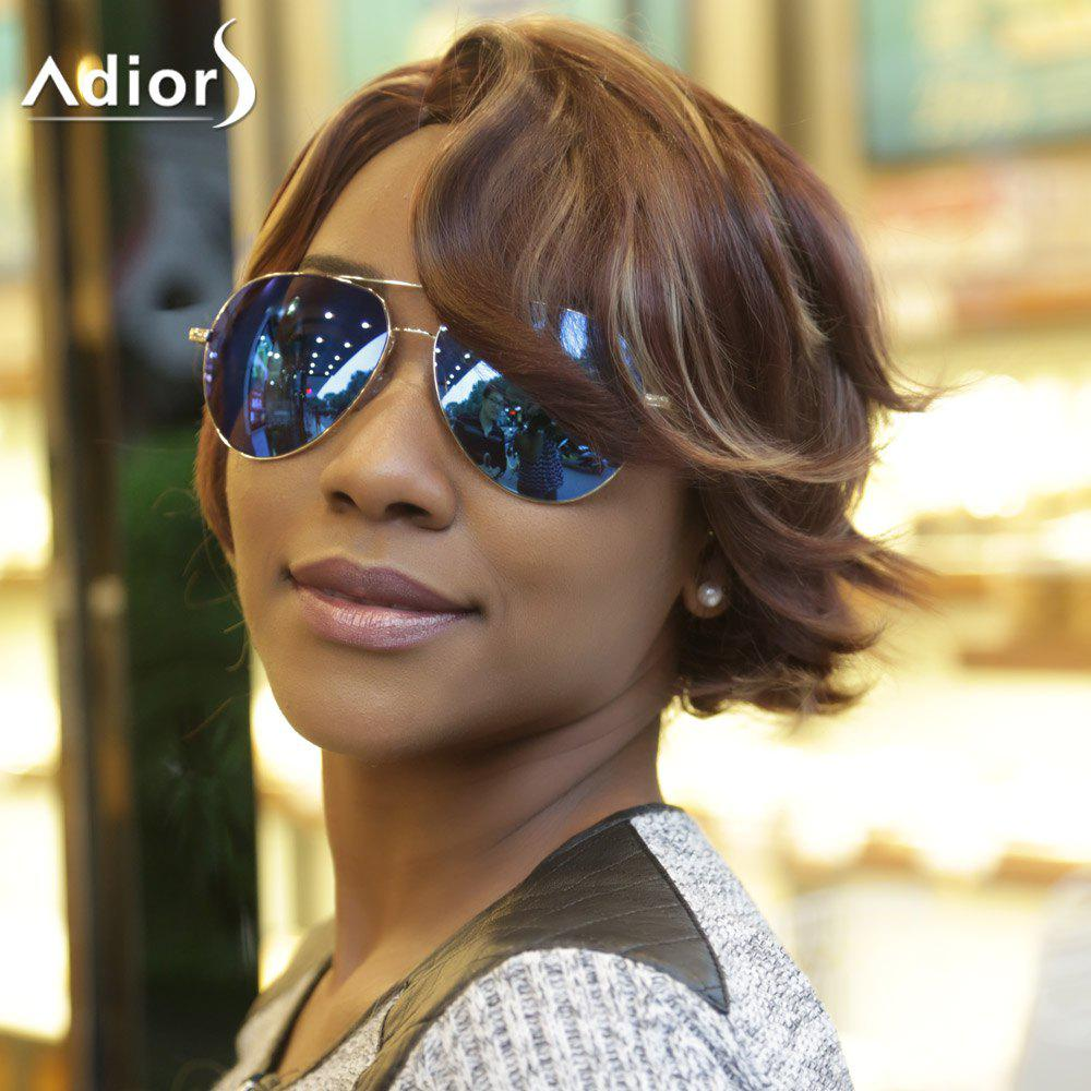 Adiors Natural Wave Fluffy Side Parting Short Colormixed Synthetic Wig