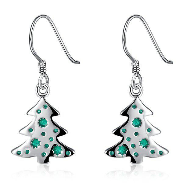 Christmas Tree Enamel Dangle EarringsJewelry<br><br><br>Color: GREEN