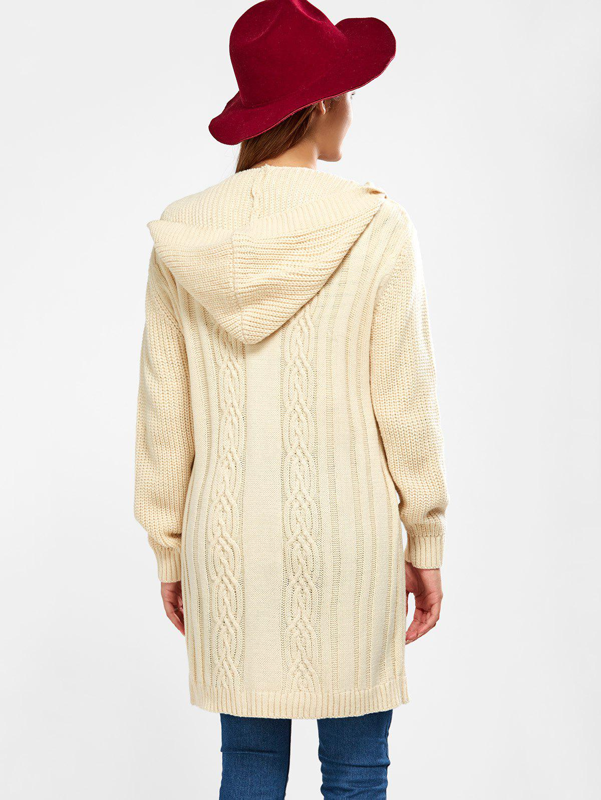 2017 Hooded Long Cable Knit Cardigan PALOMINO XL In Sweaters ...