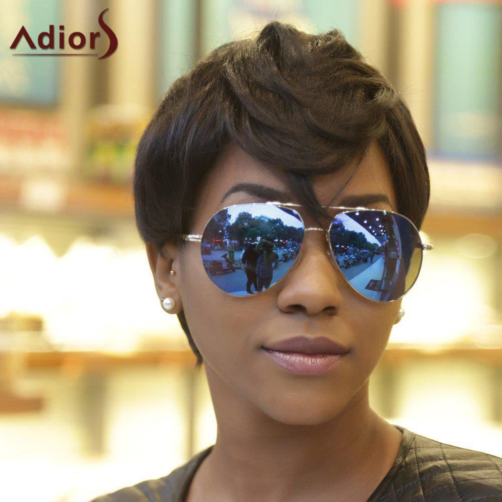 Short Fluffy Virile Adiors Full Bang Synthetic Hair WigHair<br><br><br>Color: BLACK BROWN