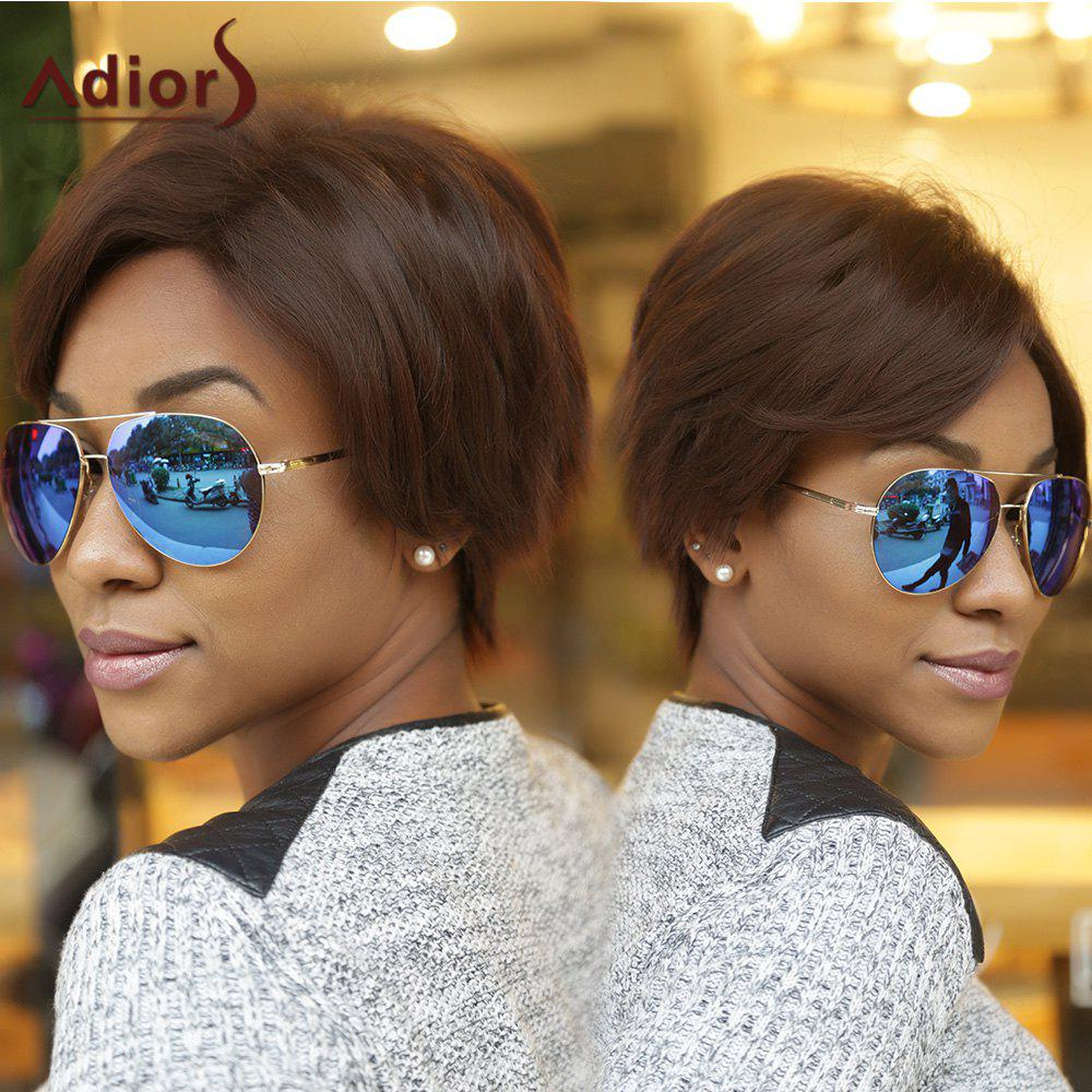 Fluffy Adiors Short Straight Side Bang Synthetic Wig - COLORMIX