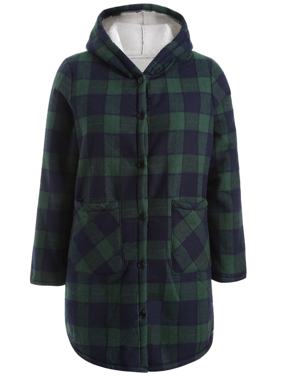 Hooded Checked Borg Lined Coat водонагреватель electrolux ewh 30 centurio dl silver h