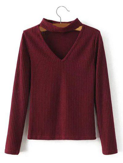 Keyhole Neck Pullover Ribbed Sweater виниловые обои marburg attitude 56222