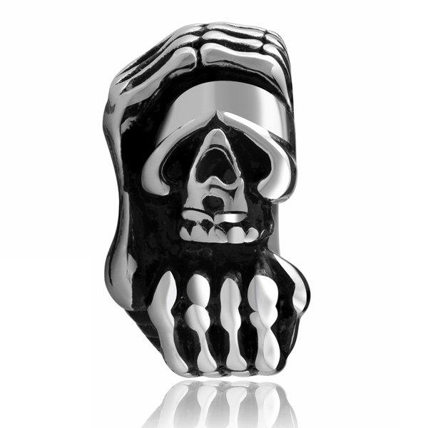 Vintage Adorn diable Claws Skull Ring - Argent 7