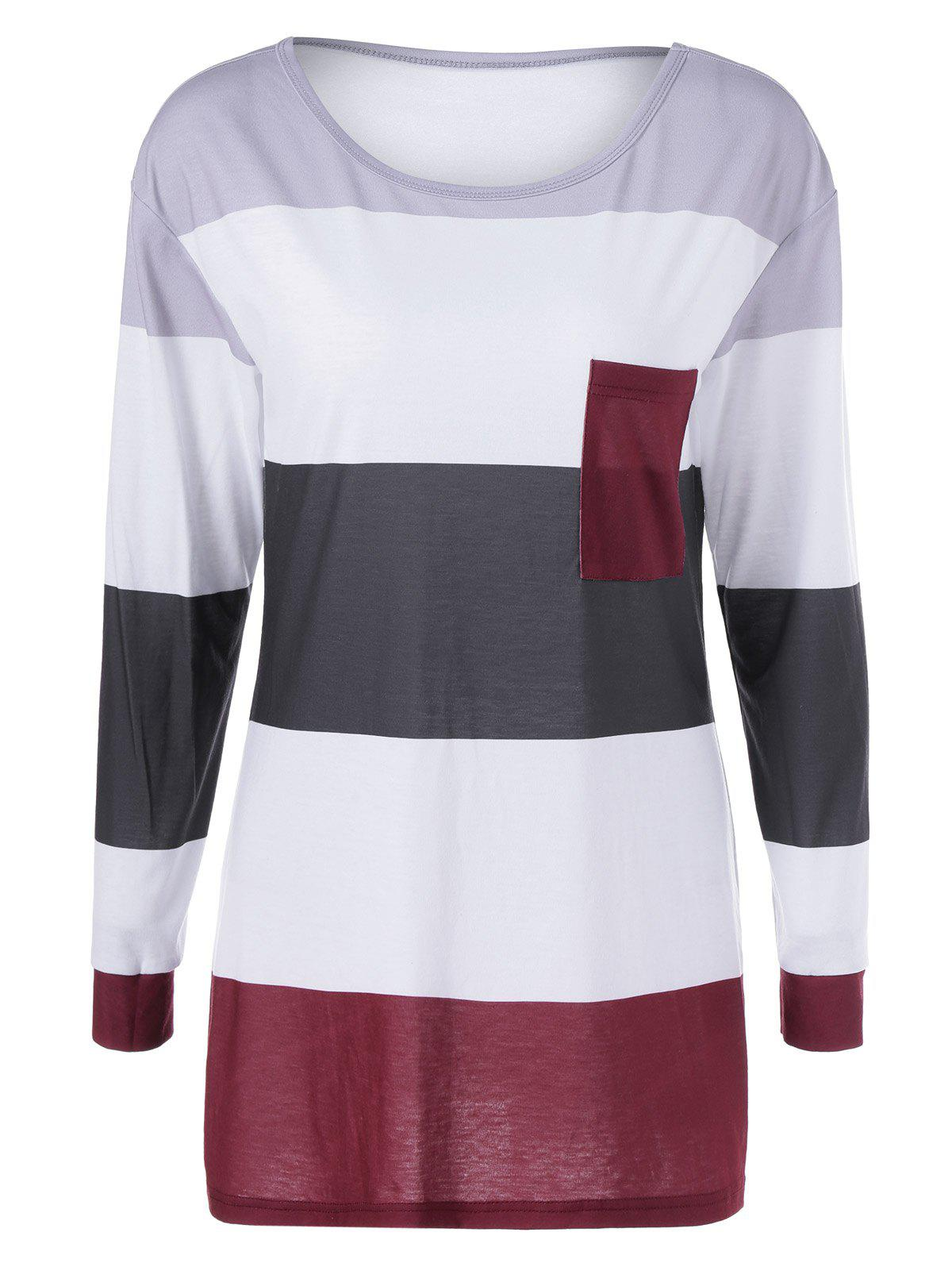 Striped Single Pocket TeeWomen<br><br><br>Size: M<br>Color: STRIPE