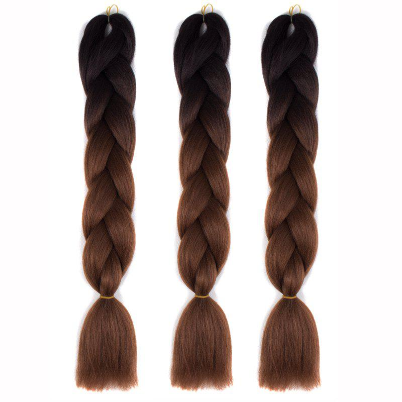 1 Pcs Multicolor Braided High Temperature Fiber Hair Extensions
