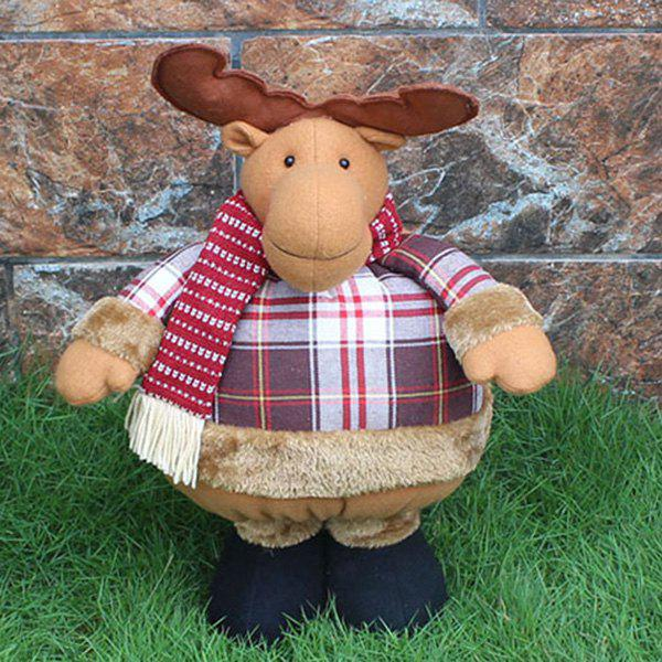 Novelty Kids Gift Christmas Elk Puppet Toy - COLORMIX