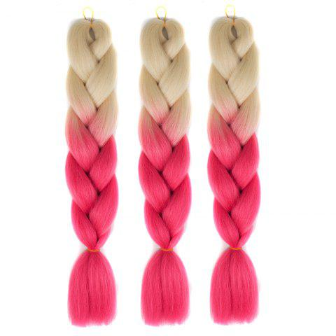 Heat Resistant Fiber 1 Pcs Multicolor Braided Hair Extensions - RED/WHITE