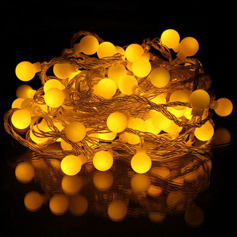 Christmas Ball Pendant LED String Light Party Decoration - YELLOW