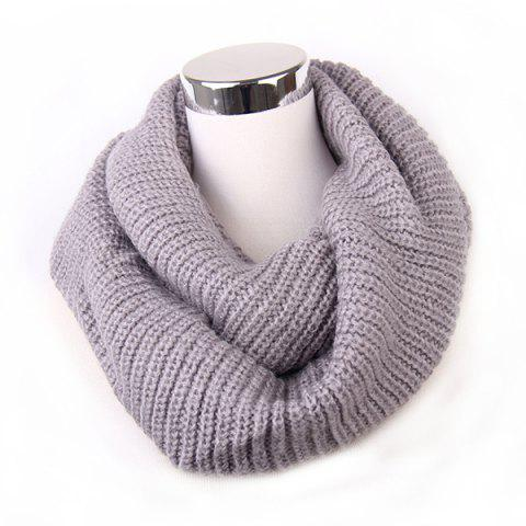 Loose Knitted Infinity Scarf - GRAY