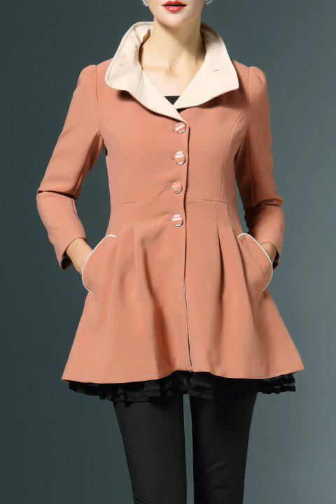 Layered Fitting Coat jupette - Orange Rose S