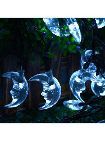 party decoration 48m christmas solar power moon led string light