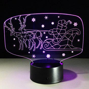 Colorful Christmas 3D Visual LED Touching Kids Room Night Light - COLORFUL COLORFUL