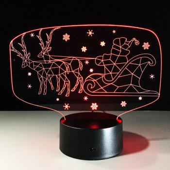 Colorful Christmas 3D Visual LED Touching Kids Room Night Light -  COLORFUL