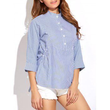 3 4 Sleeve Striped Blouse