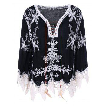 Bohemian Style Lace Embroidery Blouse