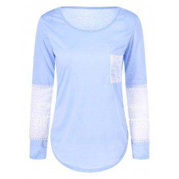 Lace Insert Slim Fit Tee