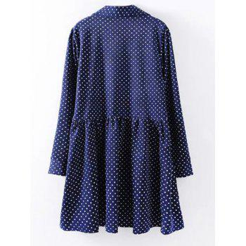 Plus Size Polka Dot Print Shirt Dress - 2XL 2XL