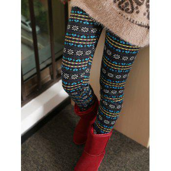 Thick Snowflake Ornate Patterned Leggings