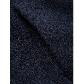 Single Breasted Stand Collar Woolen Coat - CADETBLUE CADETBLUE